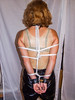 Tina in white bondage (Raymond_de) Tags: latex bondage collar