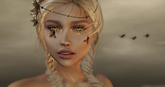 Sting (Chelsea Chaplynski ( Amity77 inworld)) Tags: chelsea sting bees honey tattoo eyes avatar