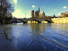 Notre-Dame de Paris (Raymonde Contensous) Tags: seine crueparis2018 crueseine eau paysage nature paris pontdelarchevéché notredamedeparis cathédrale eglise fleuve