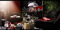 Paint it red (3XIS) Tags: ane aria black blog blogger blogging c88 collabor88 commoner decor decoration design dustbunny elibaily essenz exis fameshed fancydecor furniture halfdeer interior kuro photography red sayo secondlife theloft uber whatnext