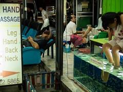 (Fromthepolder) Tags: rest nibble fish leg feet massage chiangmai thailand