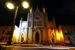 Church of Our Lady of Mount Carmel by night, Sliema, Malta