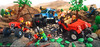 The Great Mountain Chase (Pixel Fox) Tags: lego mountain police chase contest 4x4 offroad vignette