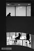 Upstairs downstairs (wanderandclick) Tags: fujifilmx usa streetphoto fujifilmx100f us x100f streetphotography people fujifilm architecture sitting walking blackandwhite contrast silhouette monochrome travel nyc museum acros cafe city unitedstates fujifilmacros street newyork