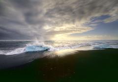 Blue Dream (StephanieB.) Tags: jalsarlon jokulsarlon iceland islande plage noire black beach volcanic iceberg vatnajkogull glacier atlantique see mer scandinavie canon5dmarkiv ocean ciel eau paysage landscape