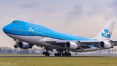 KLM - PH-BFT - Boeing 747 - 06-01-2018 (Oscar Lammers Photography) Tags: klm phbft boeing 747 06012018 ams eham amsterdam schiphol airport runway airplane take off polderbaan aviation airliner aircraft
