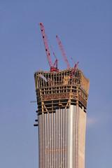 108 High (█ Slices of Light █▀ ▀ ▀) Tags: skyscraper tall building china zun citic tower 中国尊 zhōngguó zūn toppedout 528m storeys 108 floor count area 427000 square metres 4600000 sq ft beijing 北京 中国 panasonic lumix tz100 zs100 中國