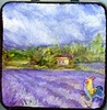 Lavender Fields-DIY Travel Palette (molossus, who says Life Imitates Doodles) Tags: lavender fields nature watercolor youtangle tin diytravelpalette