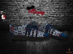 Mickey Patch Sneaker Female Poster (stephentryce) Tags: women girls ladies sneakers shoes fashion disney mickey mouse minnie slink belleza maitreya sl secondlife virtual
