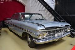 Chevrolet Impala 1959 (Monde-Auto Passion Photos) Tags: voiture vehicule auto automobile chevrolet impala coupé gris ancienne classique rare rareté vente enchère osenat france fontainebleau
