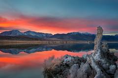 Tufa (buiTchuong) Tags: sunset monolake clouds mountain desert sierra lake water reflection nature