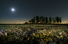 Thy Field of Dreams, where I've imagined for many years (Andrew Myatt Photo) Tags: nocturnalphotography landscapes field countrylife construction