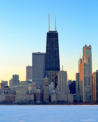 Hancock Tower (dpsager) Tags: chicago dpsagerphotography hancocktower lakemichigan lakefront northavenue winter