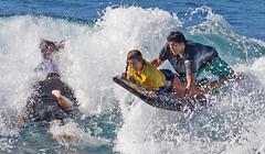 Over She Goes (RicoLeffanta) Tags: boogieboard tandem couple team ocean sport surf surfing whitewater buffalo keaulana big board classic makaha oahu hawaii rico leffanta