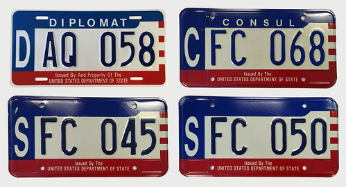 Diplomatic License Plates