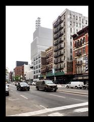 160513_1196_160513 104803_oly_S1_New York (A Is To B As B Is To C) Tags: aistobasbistoc usa newyorkstate newyork roadtrip travel olympus stylus1s manhattan newmuseum sanaa white architecture museum bowery sign chair street car cars carcity city cityscape van building urban
