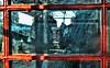 The Miniaturist and The Man in Costa (whosoever2) Tags: england unitedkingdom uk gb greatbritain nikon d7100 january 2018 railway railroad train chester cheshire telephone box costa coffee theminiaturist book