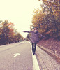 Balance (CoolMcFlash) Tags: person woman balance arrow direction street asphalt vienna canon eos 60d frau balancieren wien pfeil richtung strase fotografie photography sigma 10mm fisheye