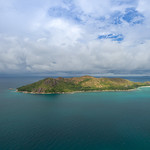 Aerial of Curieuse island Seychelles thumbnail