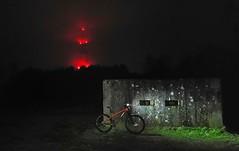 The Aliens are Landing (tj.moore) Tags: mtb mountain bike night ride swinley transmitter misty rain dark nokia8 birdmtb birdcycleworks zero old dean carcrashmoor pillbox