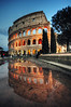 Colosseo (sammiecaine) Tags: ©sammie sammiecainephotography nikond5000 italy rome roma colosseum colosseo roman architecture europe travel city italia history culture wideangle sigma 1020mm reflection water puddle building tree tourist holiday work citybreak evening goldenhour sunset bluehour photomatix tonemapped nikon