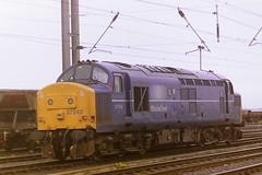 BRITISH RAIL 37242 (bobbyblack51) Tags: british railways class 370 english electric type 3 coco diesel locomotive 37242 mainline livery falkland yard ayr 1997