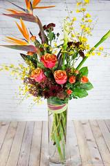 IMG_9403-4 (Garden Party Flowers) Tags: birdsofparadise bright calla cherrybrandyroses florist flowers oncidium skimmia tropical vancouver