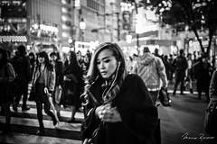 Unclear Crossing (Mario Rasso) Tags: mariorasso nikon d810 japan asia tokio tokyo shibuya crossing street streetphotography urban woman girl blackandwhite blackwhite