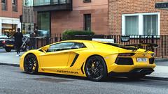 Not an SV (Beyond Speed) Tags: lamborghini aventador supercar supercars cars car carspotting nikon v12 yellow spoiler automotive automobili auto automobile uk london knightsbridge harrods