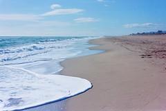 Beach in winter (davidgarciadorado) Tags: beach sea winter nobody waves sand ektar kiev jupiter8 color film 35mm