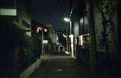 shimokitazawa (m_travels) Tags: shimokitazawa japan tokyo film photography street analog 35mmfilm night evening mood urban smcpentax50mmf12 pentaxkm fujisuperiavenus800 alley