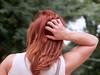 The Heartbreak Of Psoriasis (Multielvi) Tags: woman candid dc psorisis rear portrait redhead washington