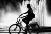 Lustgarten silhouette (Nick in exsilio) Tags: bike berlin bicycle lustgarten fountain silhouette bw monochrome