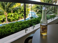 Havin a pre-wedding Sol on our balcony (broox) Tags: beer travel