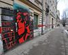 dark side city - red face (rafasmm) Tags: lodz łódź poland polska europe dark side city red face graffiti outdoor streetart streetphoto nikon d90 sigma 1020 ex
