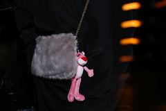London (jaumescar) Tags: london england unitedkingdom lumiere festival 2018 pink panter toy handbag teddy flash street photography photo dark night shot lowlight funny furry cartoon