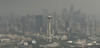 Seattle Skyline with Wildfires Smoke and Haze (Performance Impressions LLC) Tags: seattleskyline cityscape wildfires smoke haze hazy smog city spaceneedle fire seattle washington visibility view travel aerial realestate unitedstates usa 16005660082 vau1295532