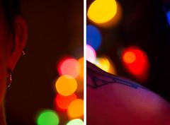 Pieces of Her (tuffpeach) Tags: bokeh color portrait diptych macro nikon 85mm love nikkor d5200 blur