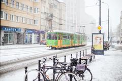 Snow Trek (ewitsoe) Tags: snow poznan winter snowfall heavysnow cold ewitsoe poland wintery chill zima street cityscape urban pedestrian neighborhood jezyce canon eos6dii 50mm 12 lseries lens glass