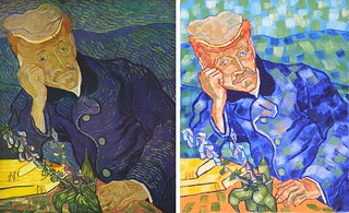 Portrait of Doctor Gachet by Van Gogh 1890 and Anthony D. Padgett 2017