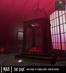 [mAr] The Cage for Fetish Fair! (andraus thor) Tags: fetish fair mar cage kinky poses rp bdsm props mesh 3d secondlife metaverse