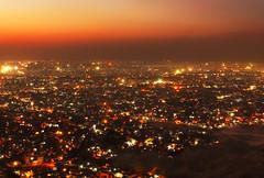 Pink city (Debmalya Mukherjee) Tags: jaipur nahargarhfort sunset evening dusk 18135 debmalyamukherjee fort city pinkcity