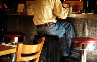 Sunlight and the primary colors, The Diner, Adams-Morgan, Washington DC   April 2003.