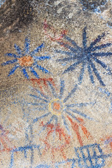 Hi-Res Photo of the Pictographs Inside the Blue Sun Cave In the Anza-Borrego Desert (slworking2) Tags: california unitedstates us nativeamerican cavepaintings cavepainting historical indian rockart pictographs pictograph pictogram desert anzaborrego anzaborregodesertstatepark