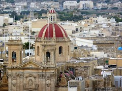 The church of Gharb, Gozo, Malta, Europe. (tosh123) Tags: malta gozo church gharb building red dome architecture bell