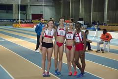 La 4x200 junior : Martina Mazzola, Elisabetta Vandi, Micol Zazzarini, Letizia Lare Lantone