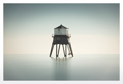 Sentinel (merseamillsy) Tags: lighthouse tranquil tranquility building calm wooden old water minimal pastel warning blue peace victorian watchtower dovercourt serene sea longexposure traditional