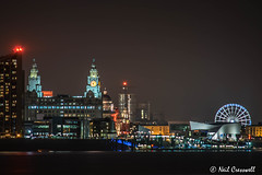 51/365 2018 Liverpool (crezzy1976) Tags: nikon d3300 nikkor40mm crezzy1976 photographybyneilcresswell photoaday liverpool skyline bigwheel liverbuilding pierhead nightphotography afterdarkphotography cloudysky building architecture 365 365challenge2018 day51 city night water rivermersey mist fog
