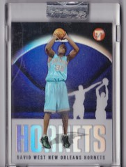2003-04 Topps Pristine Refractors #152 David West uncirculated RC #'d 1602:1999 1 (hoosierdealer) Tags: 200304 topps pristine basketball refractor serial numbered d uncirculated rookie rc ry