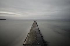 more wideness (liebeslakritze) Tags: sea meer see horizon horizont wasser strand mole langzeitbelichtung weite wideness longexposure balticsea ostsee stein